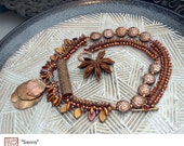 Sienna - Original, One of a Kind (OOAK) Bead Woven Necklace by Michelle Bush