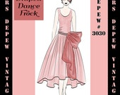 Vintage Sewing Pattern Instructions 1920's Flapper Easy Draped Dress Ebook Depew 3030 -INSTANT DOWNLOAD-