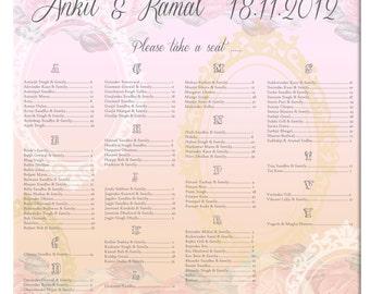 Romantic Seating Chart- Printable