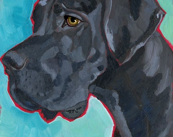 Great Dane No. 3 - magnets, coasters and art prints