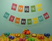 Fiesta Happy Birthday Laser Cut Banner - Made and shipped ready to hang