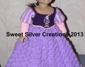 18 inch American Girl Crochet Pattern - Rapunzel