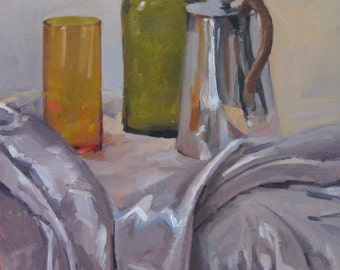"Sale! Art painting still life ""Trio"" original oil by Sarah Sedwick 16x12 inches"