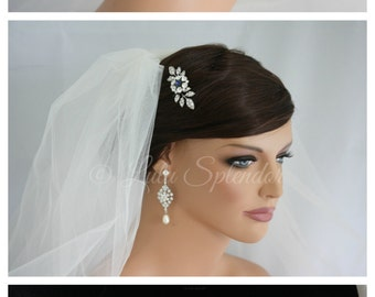 Wedding Hair Pin Montana Blue Bridal Hair Accessories Leaf Bridal Hair Pin Small Wedding Clip MACY