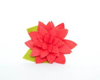Dog Collar Flower - Bright Coral Blossom