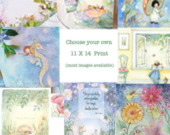 Choose your favorite,  11 X 14 Extra Large image, wall art, print