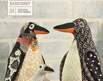 Penguin Family Sewing Pattern by BasicGrey