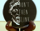 Doctor Who POCKET MIRROR Weeping Angel - geekery - nerdy - BBC