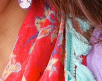 Emma Plum - Cameo earrings