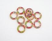 Bezel Set Rhinestone Findings Swarovski Pastel Multi Rhinestone Round Findings Brass Rhinestone Disk