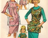 1960s Simplicity 6809 Vintage Sewing Pattern Misses Aprons Size Small (10-12), Medium (12-14)