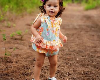 Fall Romper - Autumn Dress - Baby romper