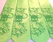 6 Mens microfiber skull ties - bulk discount mix or match colors - over 50 necktie colors to select from .
