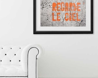 "Paris Print, ""Regarde le Ciel"" Extra Large Wall Art, Paris Photography Art Print, Oversized Art, Fine Art Photography Paris Decor"
