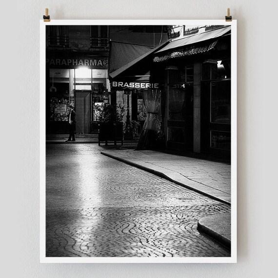 """Paris Print, Black and White Photography, """"Paris Noir 3"""" Extra Large Wall Art, Fine Art Print Paris Photography,  Film Noir"""