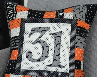 Halloween * Christmas * Valentine's Day * St Patrick's * Fourth of July  * Quilted Pillow PDF Pattern - All Season Patchwork Pillow
