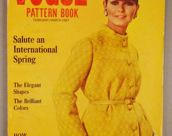 Vintage VOGUE Pattern Book Fashion FEBRUARY MARCH 1967 Rare great Condition