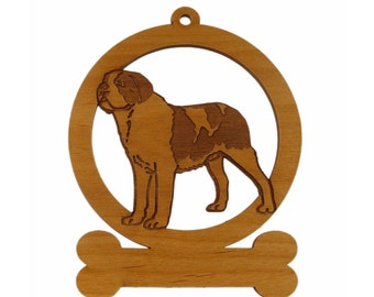 St. Bernard Standing Dog Ornament 084121 Personalized With Your Dog's Name