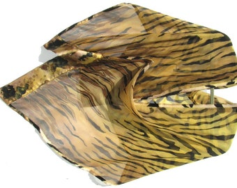 JUNGLE PRINT Silk Wrap Hand Painted Original Wild Animal Zebra Safari  Tribal  Silk Scarf or Shawl by Silk Siren at SilkSiren.com Lynn Meek