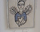 Embroidery artwork - Crowned and Happy Fairy