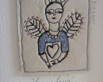Embroidery artwork - The fairy queen.
