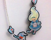 Alice Down the Rabbit-hole multi-charm necklace