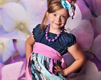 Made to match the Harper Dress by Corinna Couture Chunky Necklace for girls