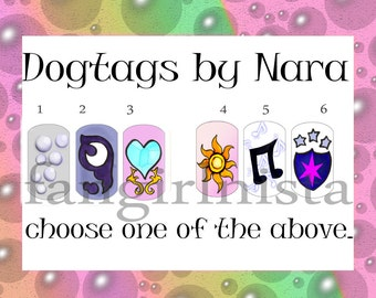 My little pony cutiemark cosplay dogtags expansion set.