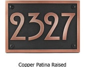 Stickley Address Plaque Home Numbers Bungalow Sign with Very Cool Font 12.5x8.75 inches