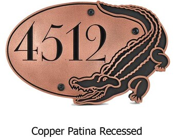"""Alligator Crocodile Address Plaque Custom Name plaque if you like 16"""" w x 10.5"""" h by Atlas Signs"""