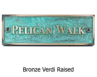 "Historic Sign with Trajan Font - 12""W x 4""H by Atlas Signs and Plaques"