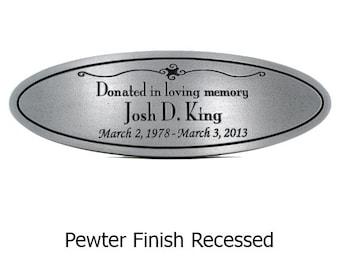 "Oval Memorial Plaque 18""W x 6""H by Atlas Signs and Plaques"