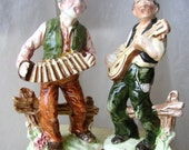 Old World Singing Musician Figurines !950s Wales Japan