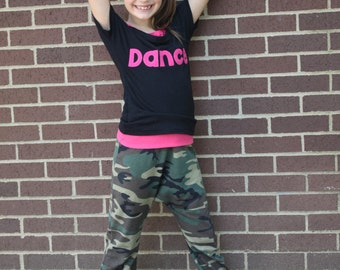 Swag Dance Pants PDF Sewing Pattern Sizes 1/2- 16 Girls