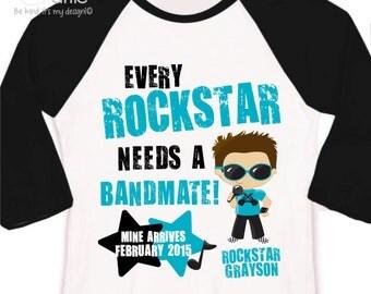 Rockstar big brother shirt bandmate pregnancy announcement raglan Tshirt