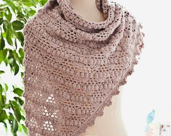 Crochet PATTERN  - Grape Shawl
