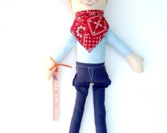 Cloth Cowboy Doll, Made to Order