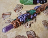 Dionysus Grape Harvest Amethyst Mini Wand