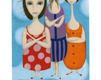 Infalted Egos- Margaret Keane Lithograph Print 1963