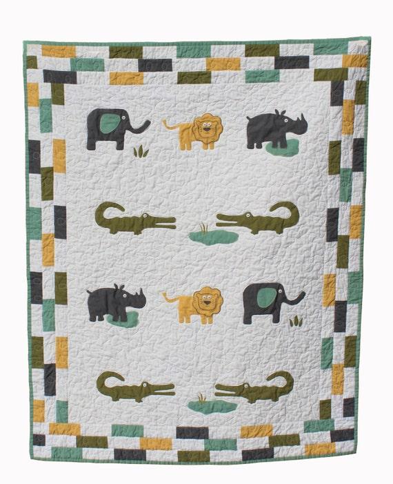 Modern Nursery Quilt Patterns : BABY QUILT PATTERN modern baby boy quilt instant download