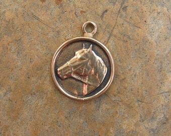 Bronze Horse Head Pendant