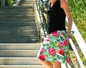 Pink Peony A Line Skirt, Amy Butler Skirt, Soul Blossoms Skirt, Custom Made Skirt, Hip sizes 30 - 50 inches