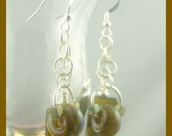 BirdDesigns Handmade Lampwork Earrings - ooak - J530