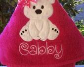 Personalized kids hooded bath towel. hooded beach towel. polar bear hooded towel. Girl. Bath towel. Hooded towel. Toddler hooded towel. Baby