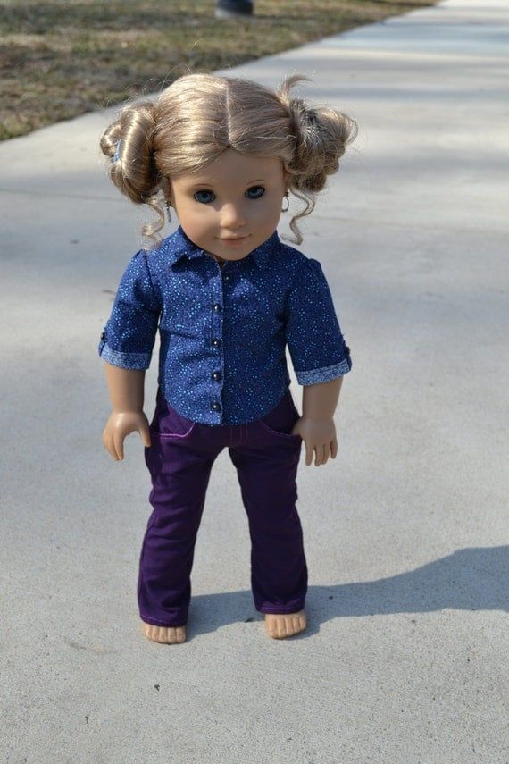 American Girl Doll Clothes - Berry Purple Jeans
