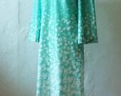 Mod Green A-Line Dress -M- Womens 1960s Vintage