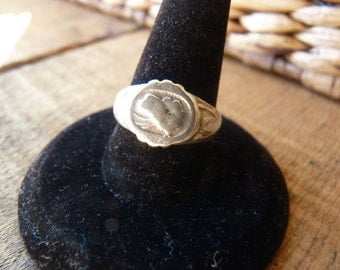 Antique Chinese Silver Adjustable Ring