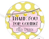 Lemon Stickers, Fresh lemon Address Labels,  Thank You stickers