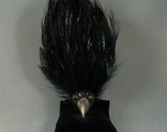 Corvo the Raven Zibirdy OOAK Fascinator Pin