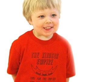 CLEARANCE  Klingon Empire- Star Trek Inspired Toddler Tee- Pick Your Size